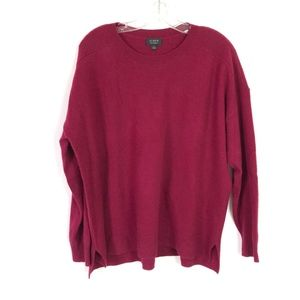 J.Crew Magenta Everyday 100% Cashmere Sweater
